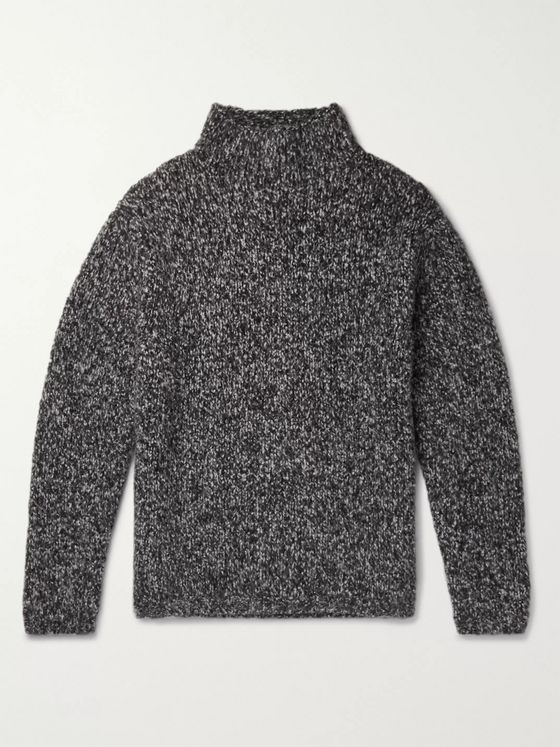 MR P. Mélange Cashmere Mock-Neck Sweater
