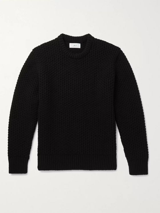 MR P. Textured-Cashmere Sweater