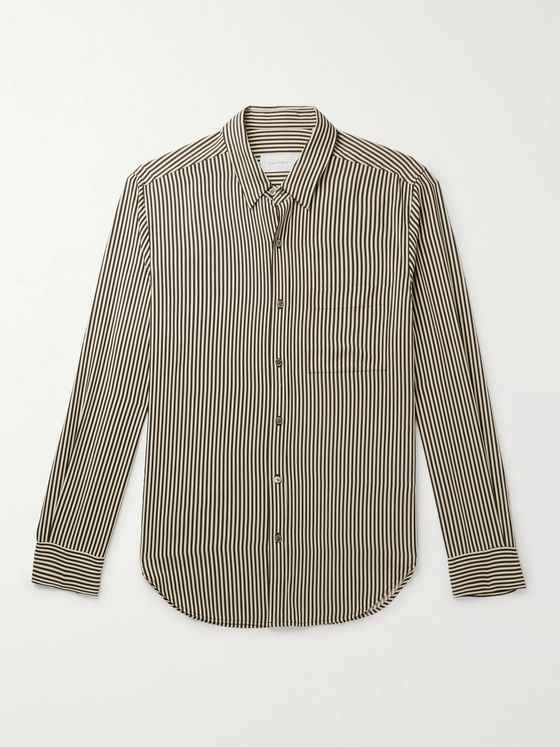 EQUIPMENT Slim-Fit Striped Twill Shirt