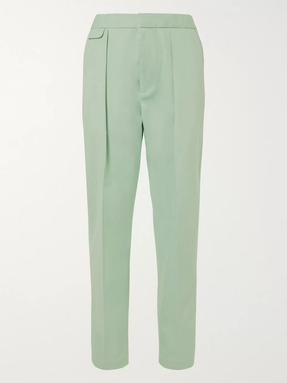 EQUIPMENT The Original Tapered Pleated Lyocell and Cotton-Blend Twill Trousers