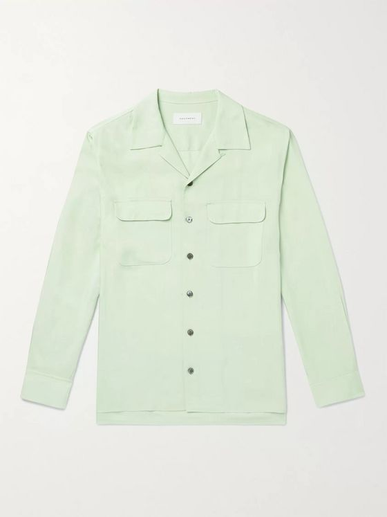 EQUIPMENT The Original Camp-Collar Twill Shirt