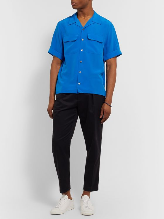 EQUIPMENT The Original Camp-Collar Silk Shirt