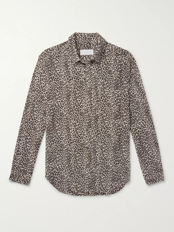 EQUIPMENT Slim-Fit Leopard-Print Silk Shirt