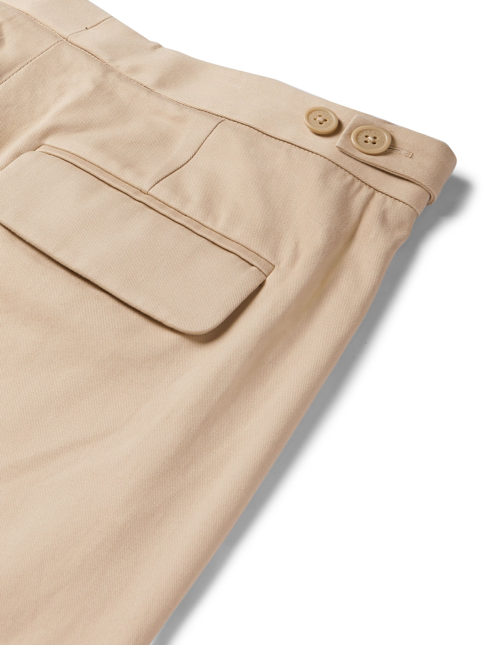 Beige The Original Tapered Pleated Lyocell And Cotton-blend Twill Trousers | Equipment