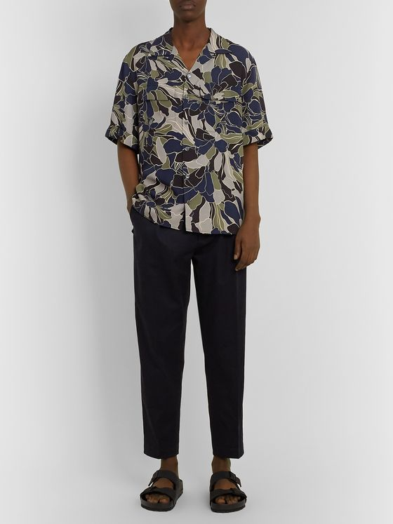 EQUIPMENT The Original Camp-Collar Printed Twill Shirt