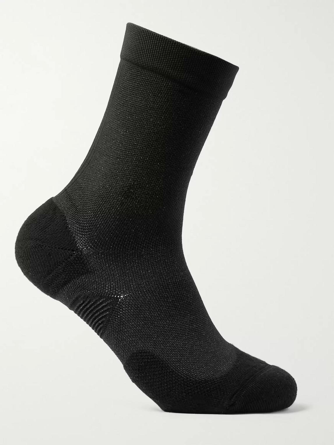 lululemon - t.h.e. crew stretch-knit socks - men - black