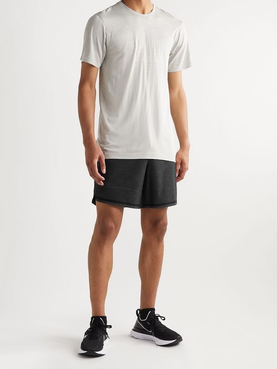 Lululemon Pinnacle Jersey and Mesh-Trimmed Printed Stretch-Shell Running Shorts