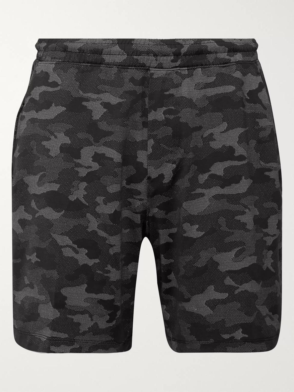 lululemon - pace breaker printed swift shorts - men - black