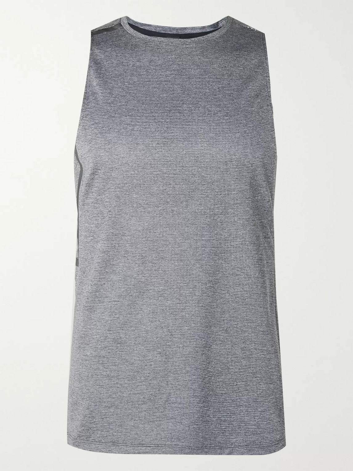 lululemon - fast and free mesh tank top - men - gray