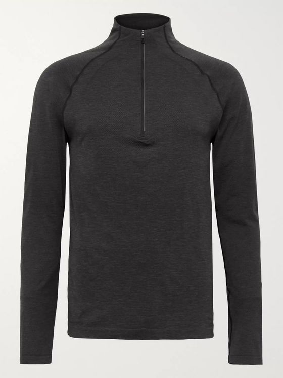 Lululemon Metal Vent Tech 2.0 Mélange Stretch-Jersey Half-Zip Top