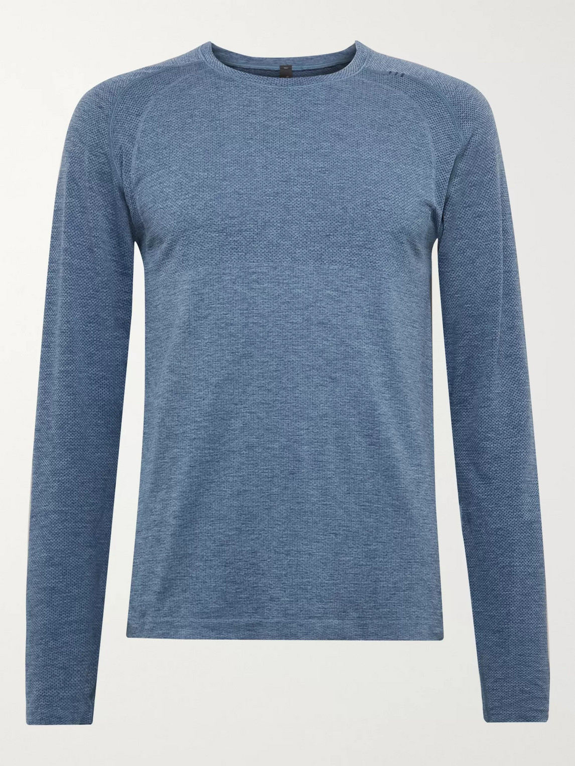 lululemon - metal vent tech 2.0 mã©lange stretch-jersey t-shirt - men - blue