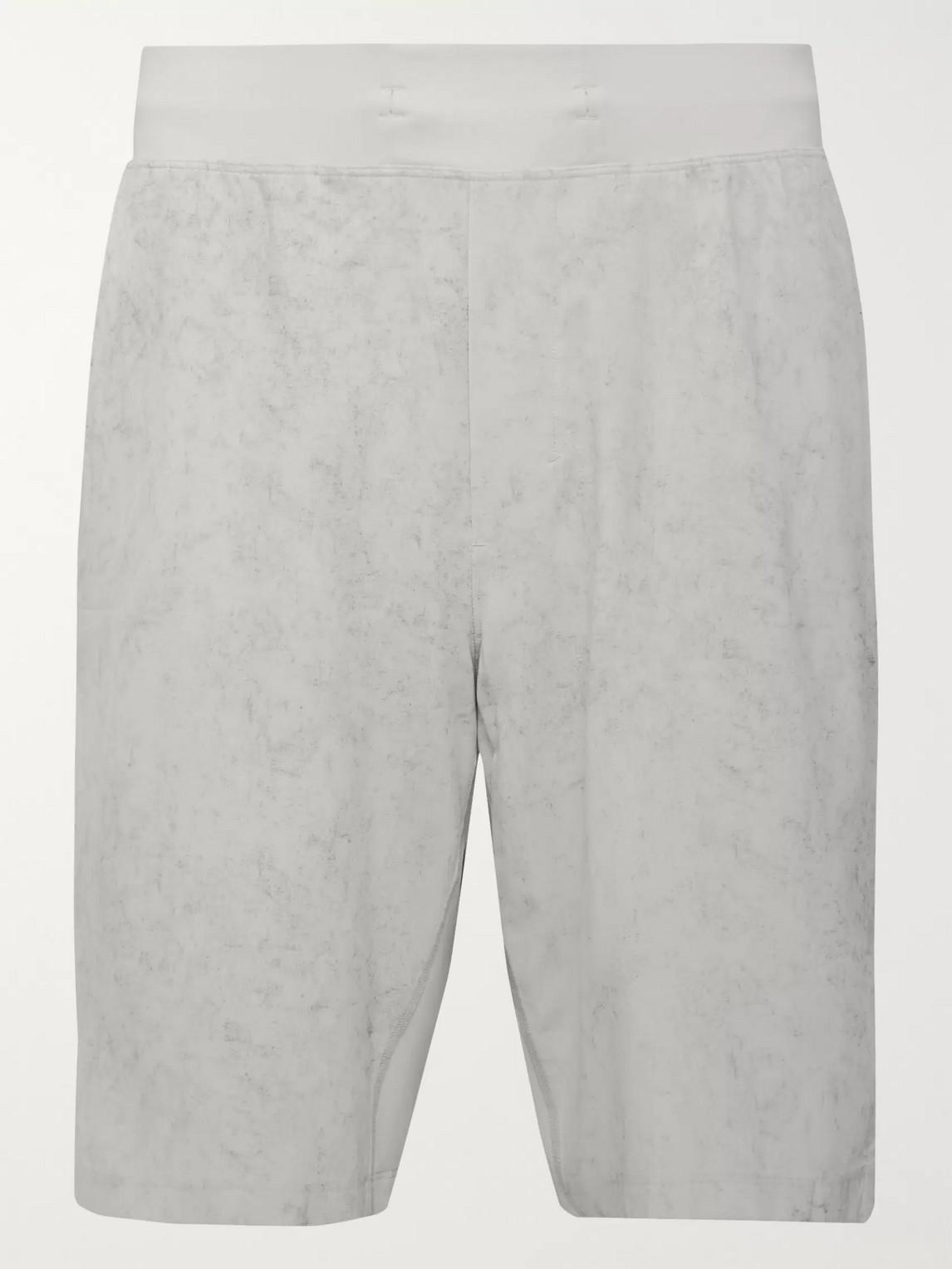 lululemon - t.h.e. printed swift shorts - men - gray