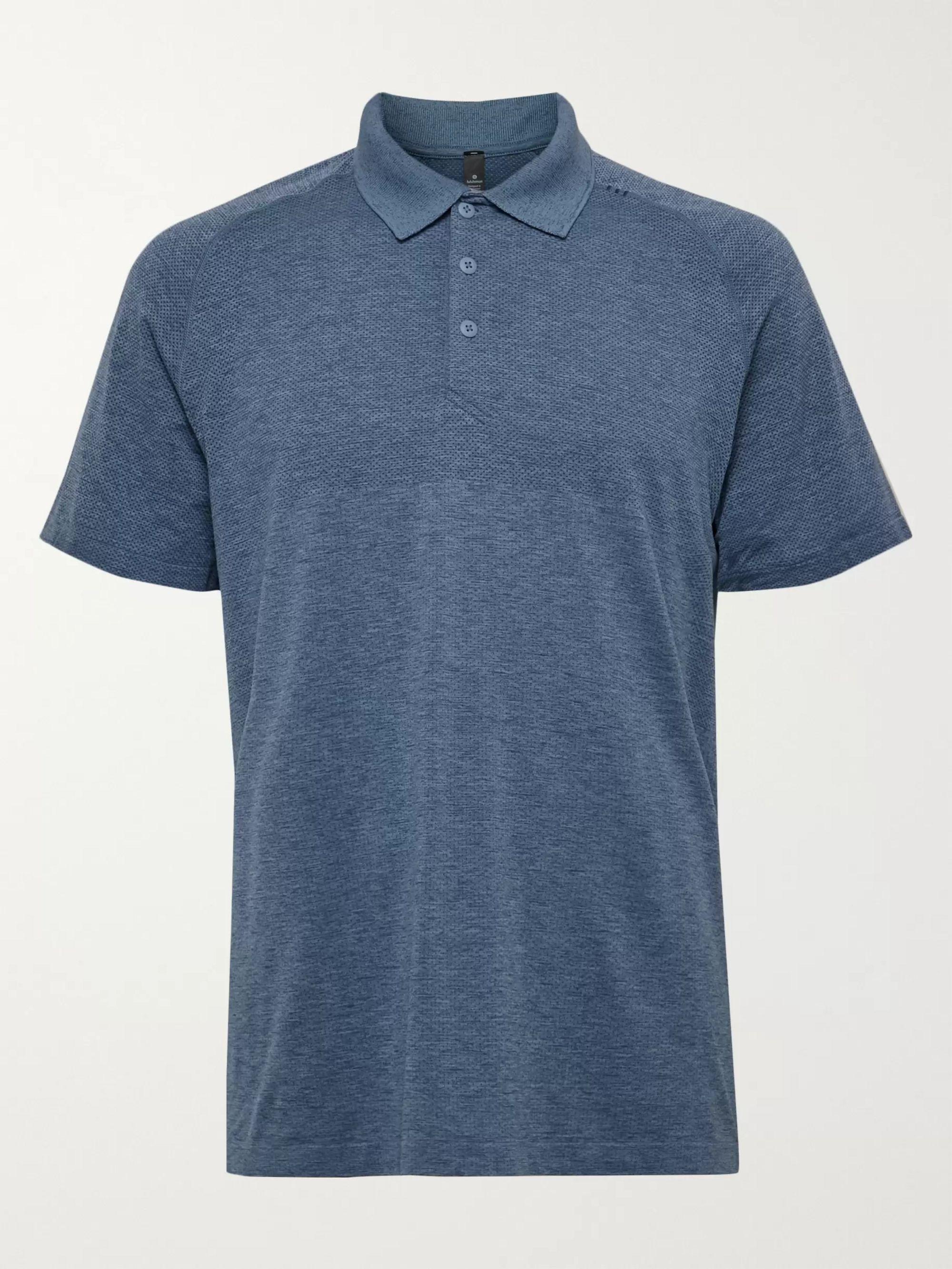 Lululemon Metal Vent Tech 2.0 Melange Stretch-Jersey Polo Shirt