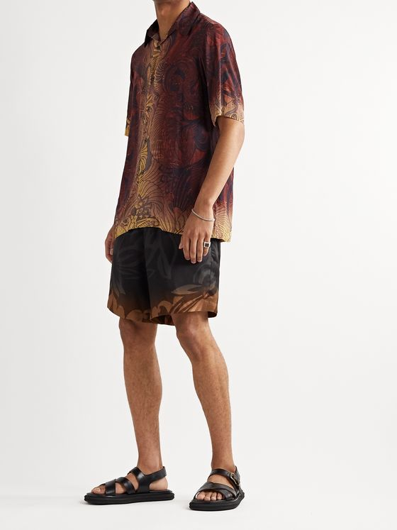 Dries Van Noten Printed Satin Shirt