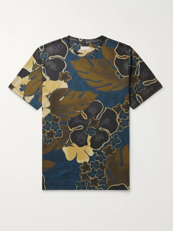 Dries Van Noten Floral-Print Cotton-Jersey T-Shirt