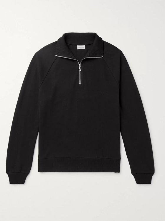Dries Van Noten Cotton-Jersey Half-Zip Sweatshirt
