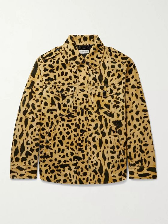 Dries Van Noten Oversized Leopard-Print Cotton-Corduroy Blouson Jacket