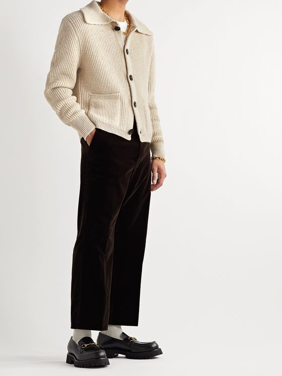 Dries Van Noten Ribbed Wool Cardigan