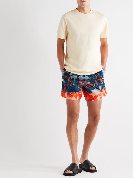 Dries Van Noten Mid-Length Dégradé Floral-Print Shell Swim Shorts