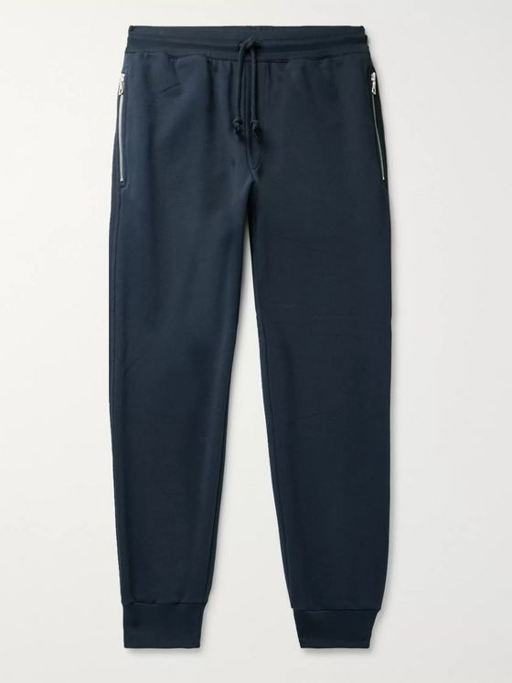 Dries Van Noten Tapered Loopback Cotton-Jersey Sweatpants