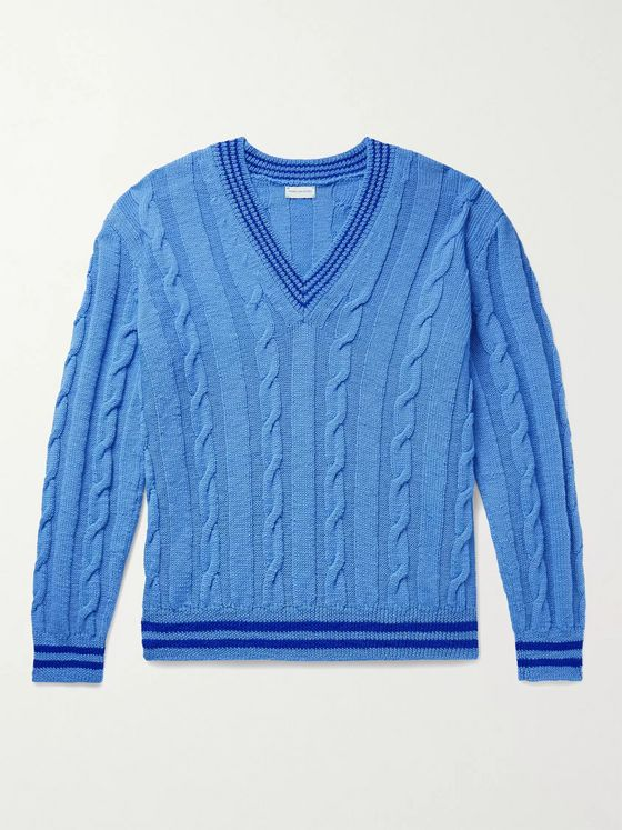 Dries Van Noten Cable-Knit Wool Sweater