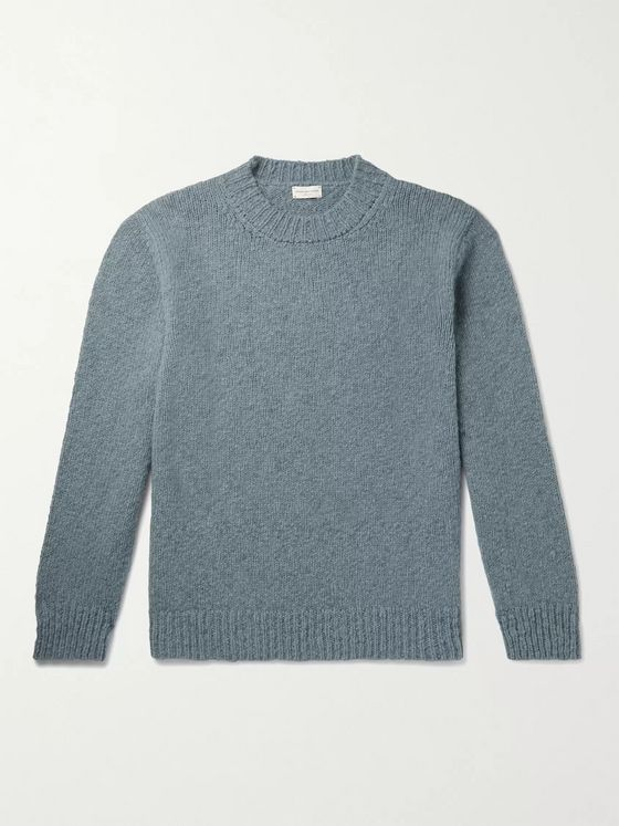 Dries Van Noten Ribbed Merino Wool-Blend Sweater