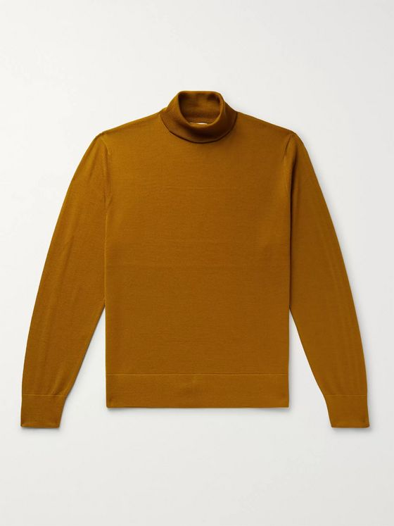 Dries Van Noten Merino Wool Rollneck Sweater