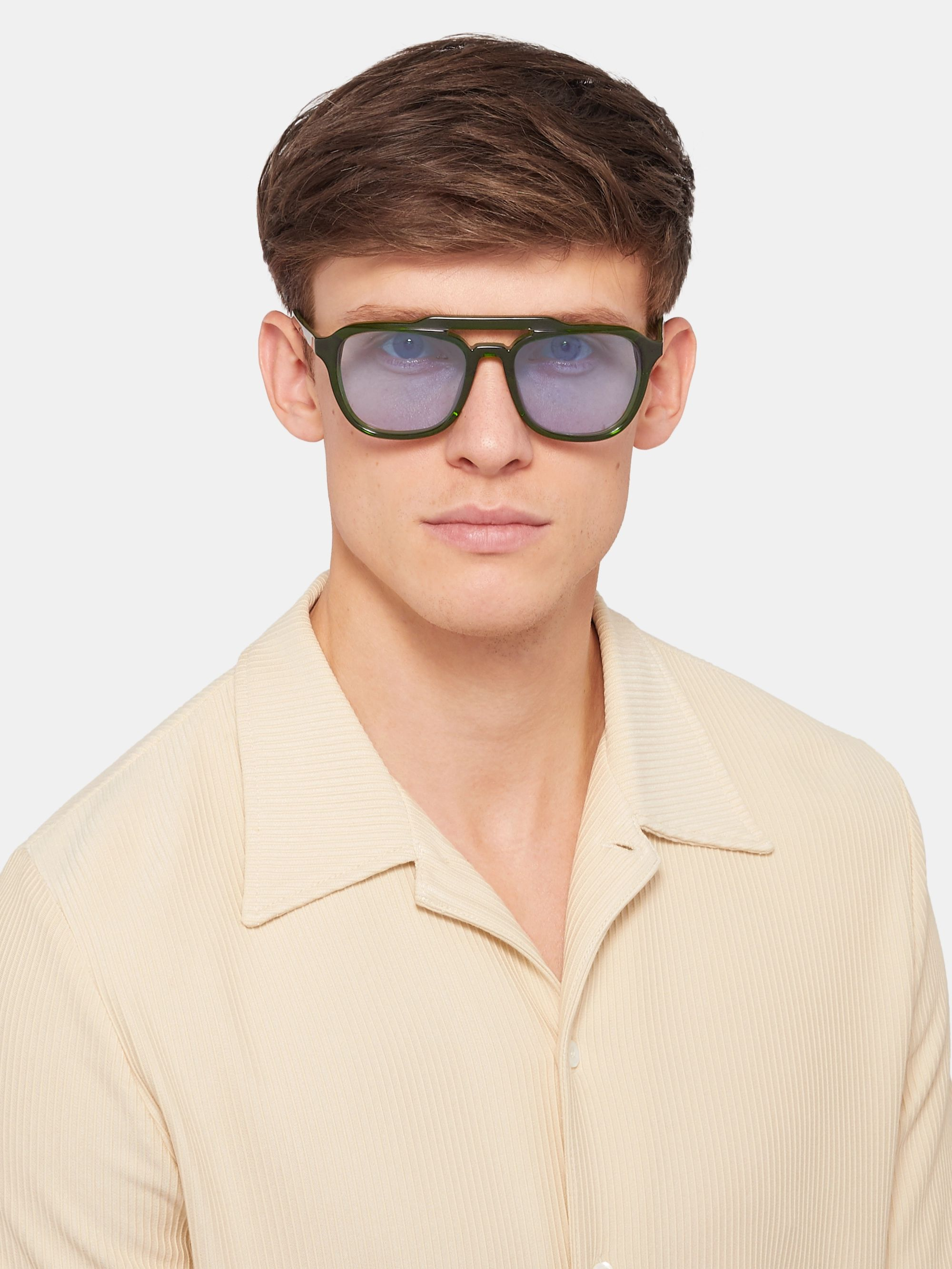The Reference Library Mickey Aviator-Style Acetate Sunglasses