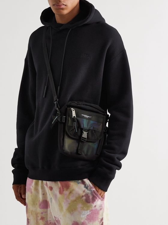 Indispensable Buddy Iridescent Shell and Canvas Messenger Bag