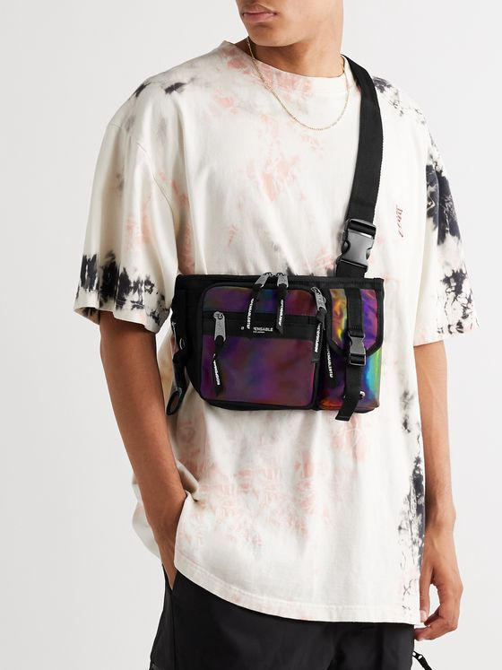 Indispensable Armor Iridescent Shell and Canvas Belt Bag