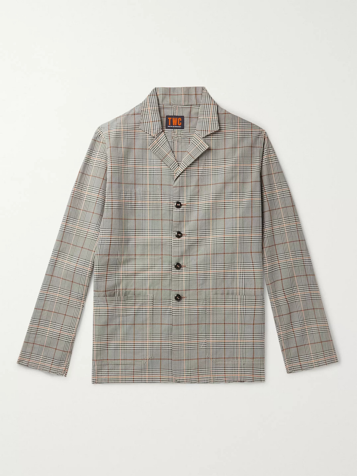 The Workers Club Checked Organic Cotton-twill Blazer In Neutrals
