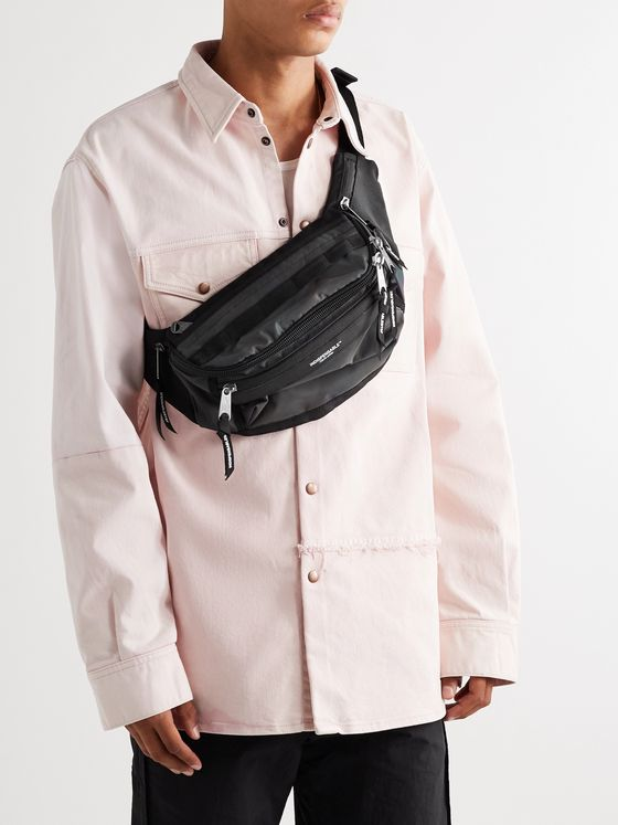 Indispensable Attach Iridescent Shell and Canvas Belt Bag
