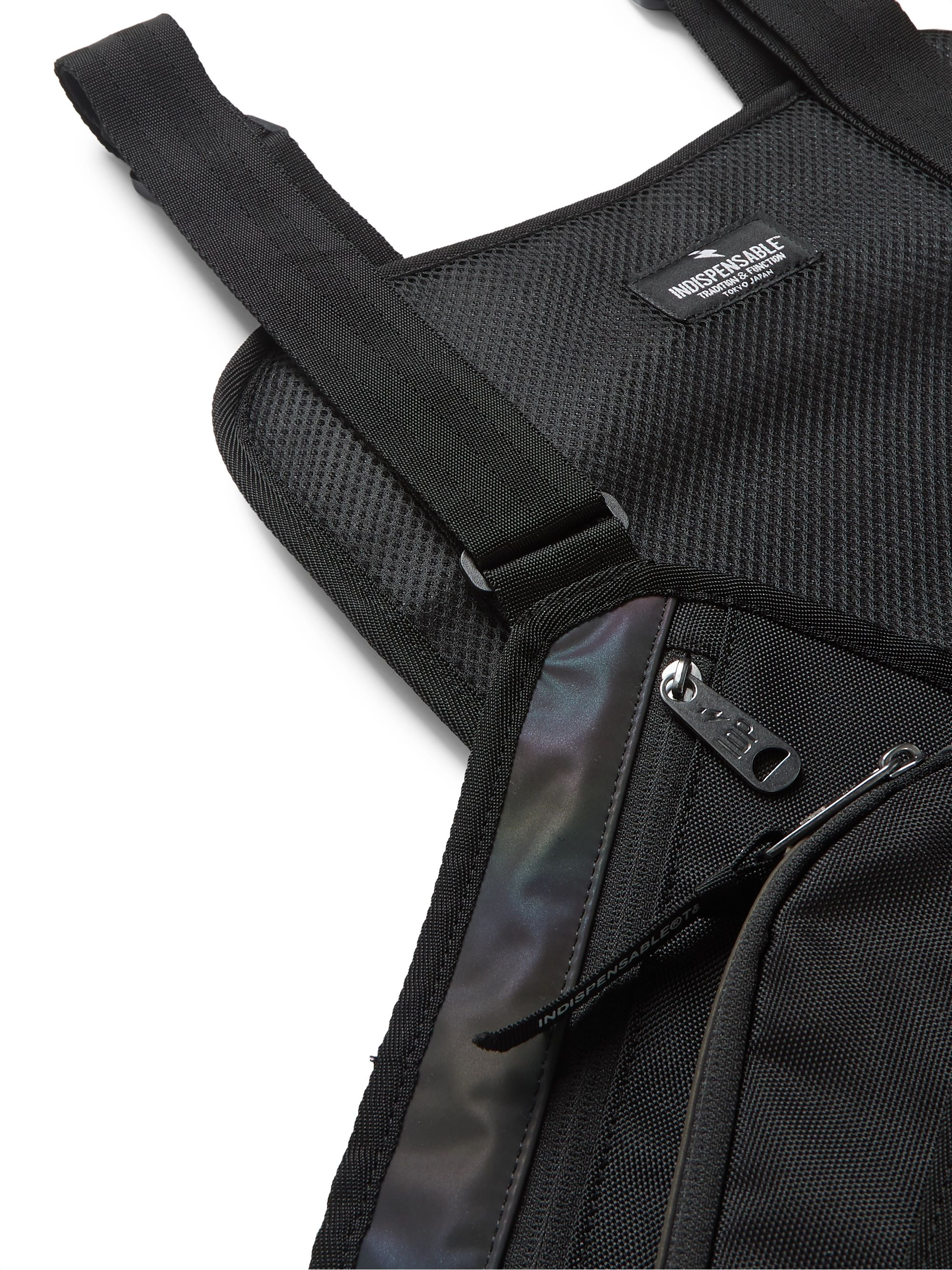 Black Auror Iridescent Shell And Canvas Backpack | Indispensable