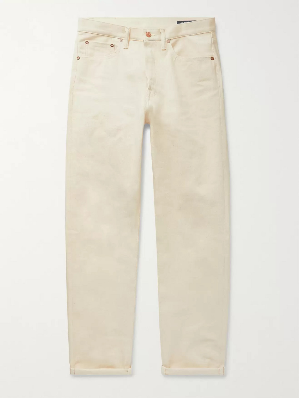The Workers Club Selvedge Denim Jeans In Neutrals