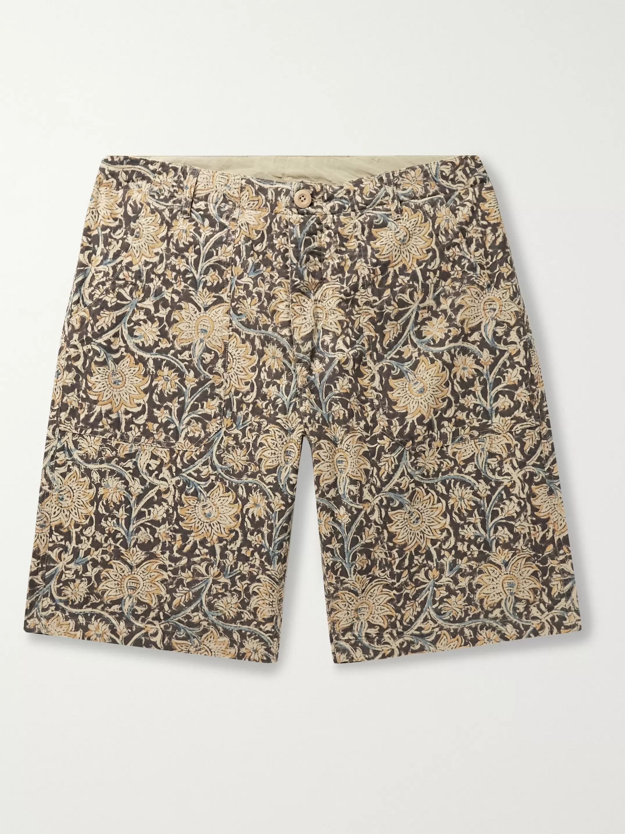 The Workers Club Paisley-Print Brushed-Cotton Shorts