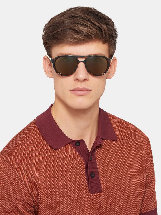 The Reference Library Stevie Aviator-Style Tortoiseshell Acetate Sunglasses