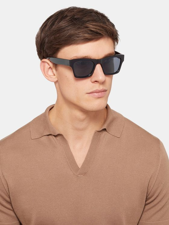 The Reference Library Eddie Square-Frame Acetate Sunglasses