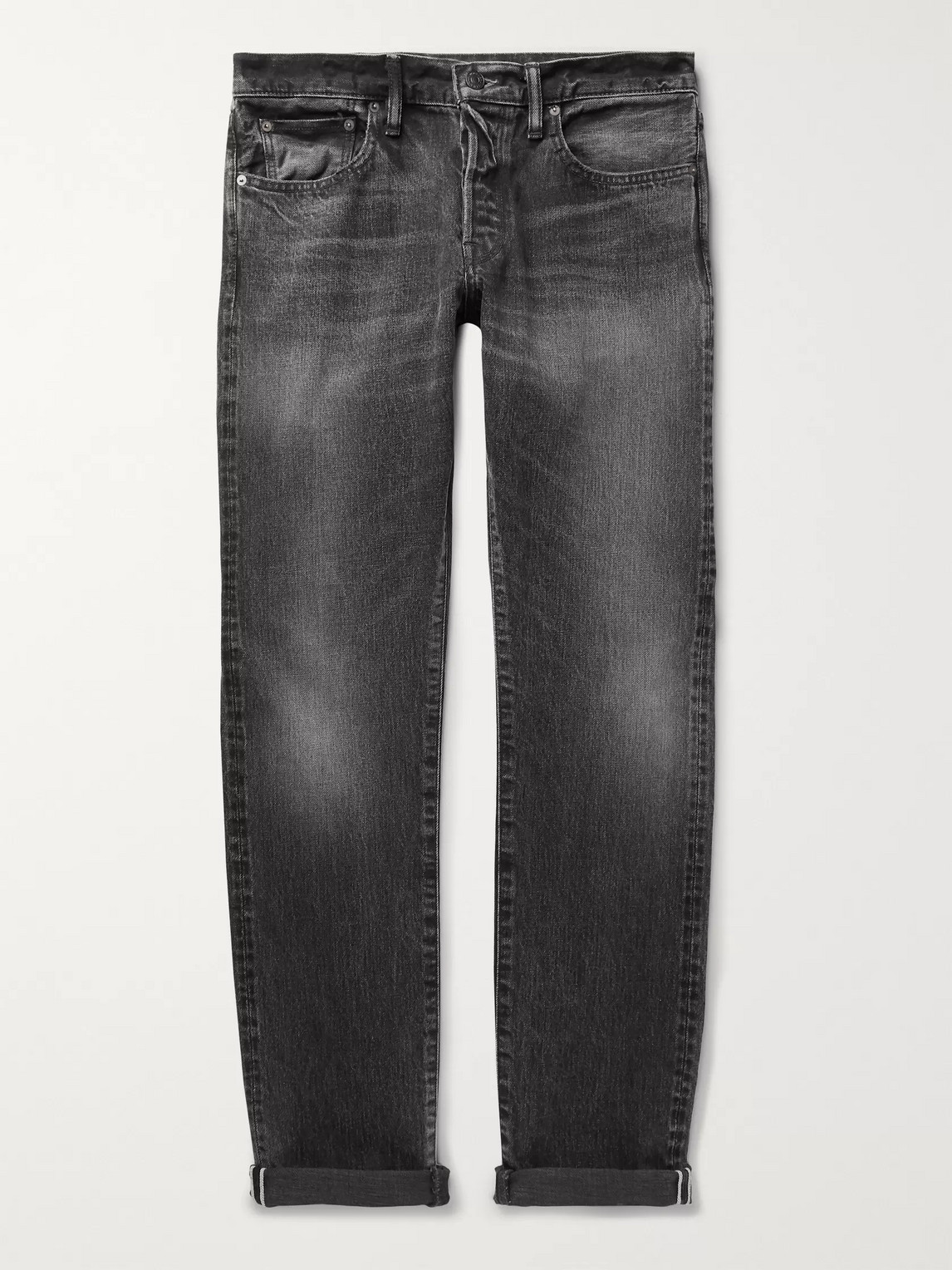 The Workers Club Slim-fit Selvedge Denim Jeans In Gray