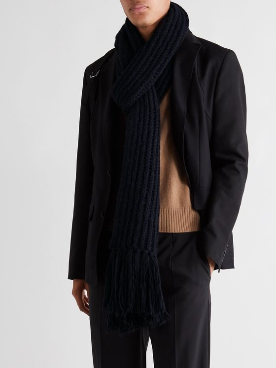 Dries Van Noten Tasselled Merino Wool-Blend Scarf