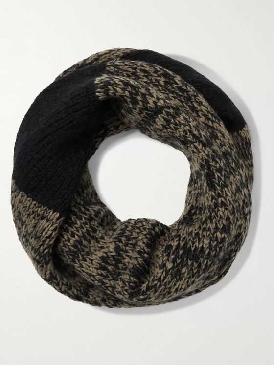 Dries Van Noten Mélange Merino Wool-Blend Scarf