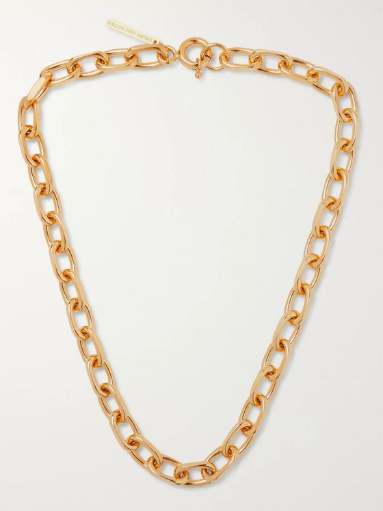 Dries Van Noten Gold-Tone Chain Necklace
