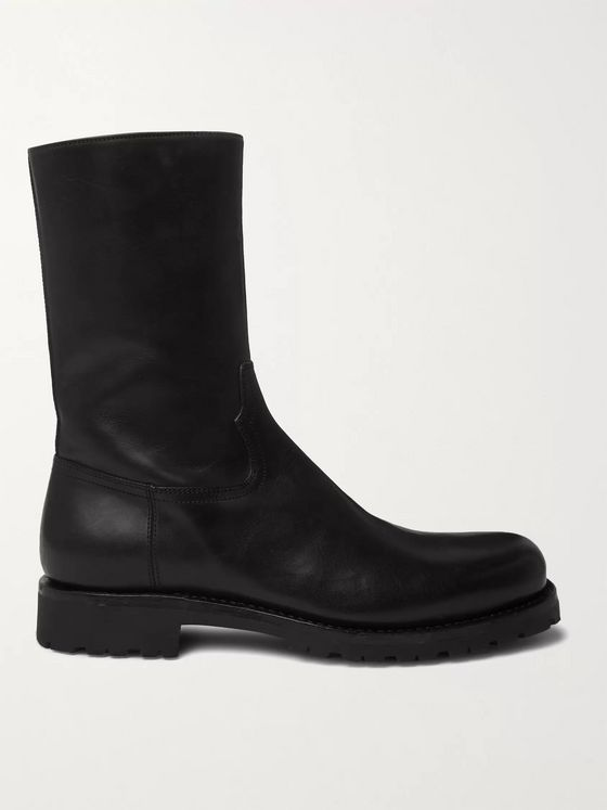 Dries Van Noten Leather Chelsea Boots