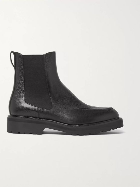 Dries Van Noten Full-Grain Leather Chelsea Boots