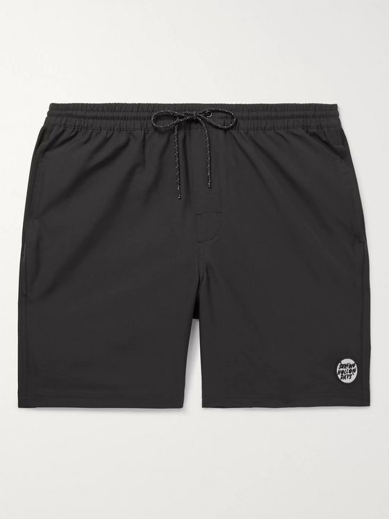 Outerknown Appliquéd Shell Drawstring Shorts