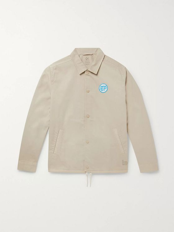 Outerknown Logo-Appliquéd Organic Cotton-Twill Jacket