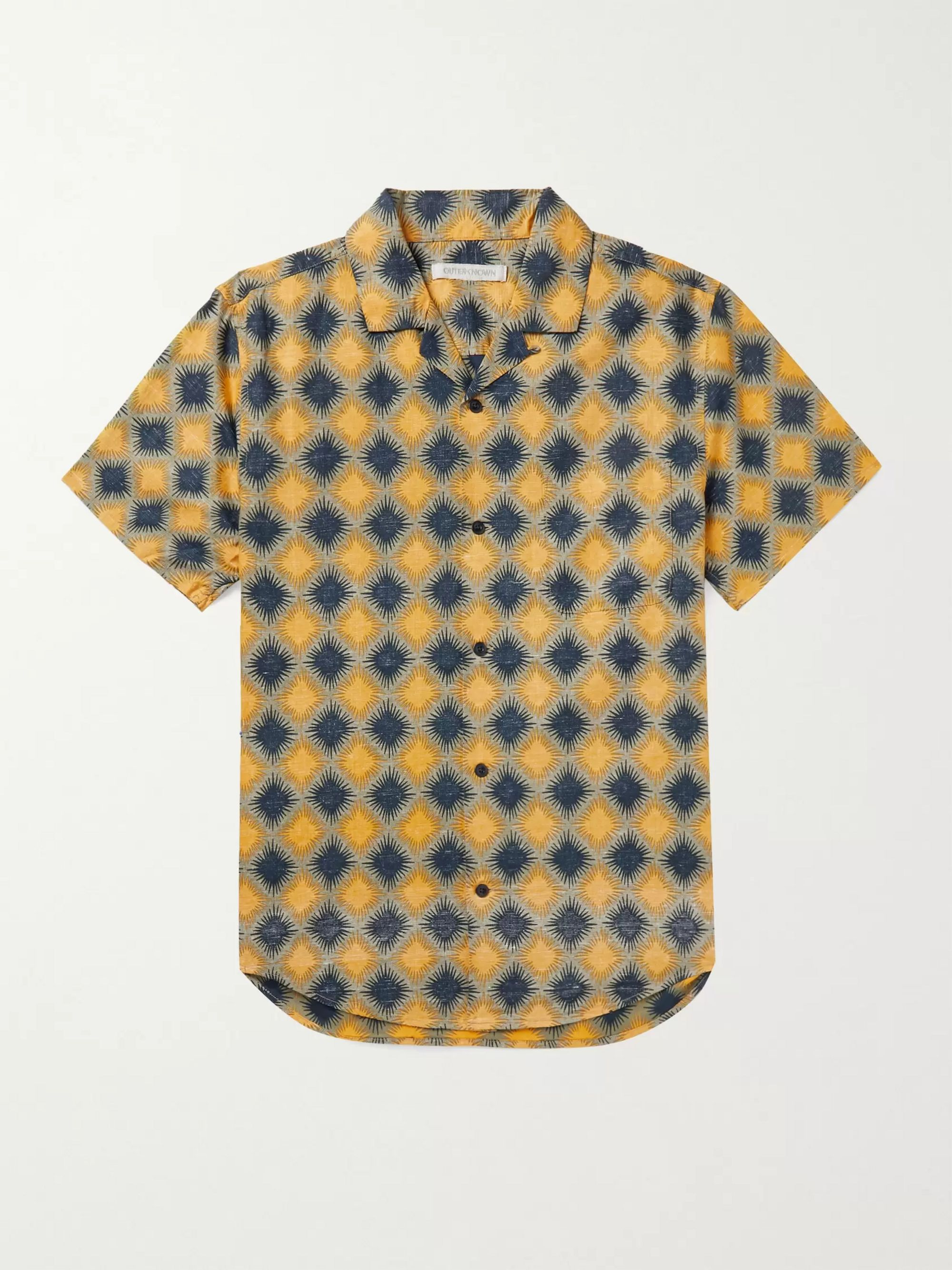 Outerknown BBQ Camp-Collar Printed Organic Cotton and Hemp-Blend Shirt