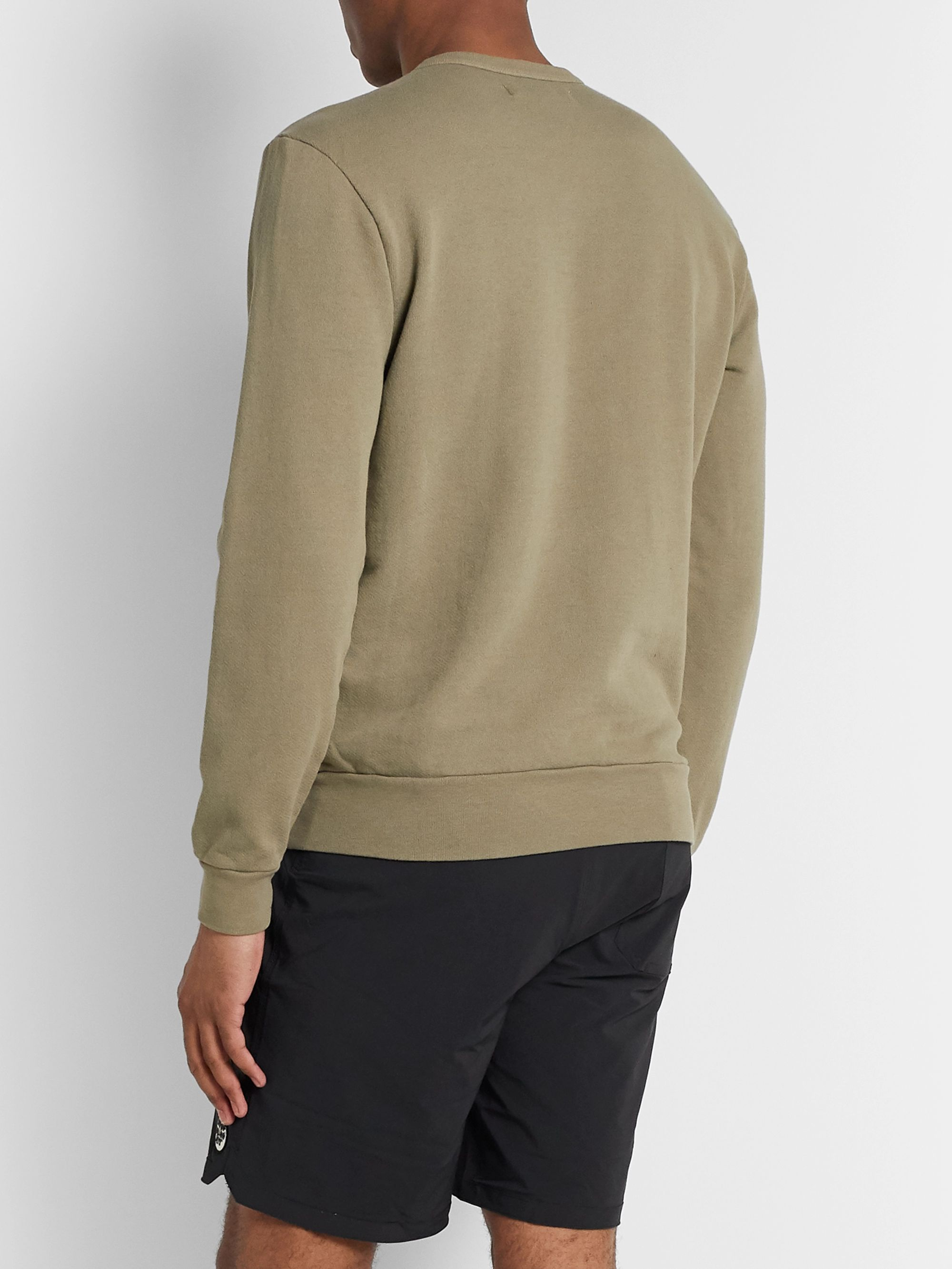 Outerknown Printed Loopback Organic Cotton-Blend Jersey Sweatshirt
