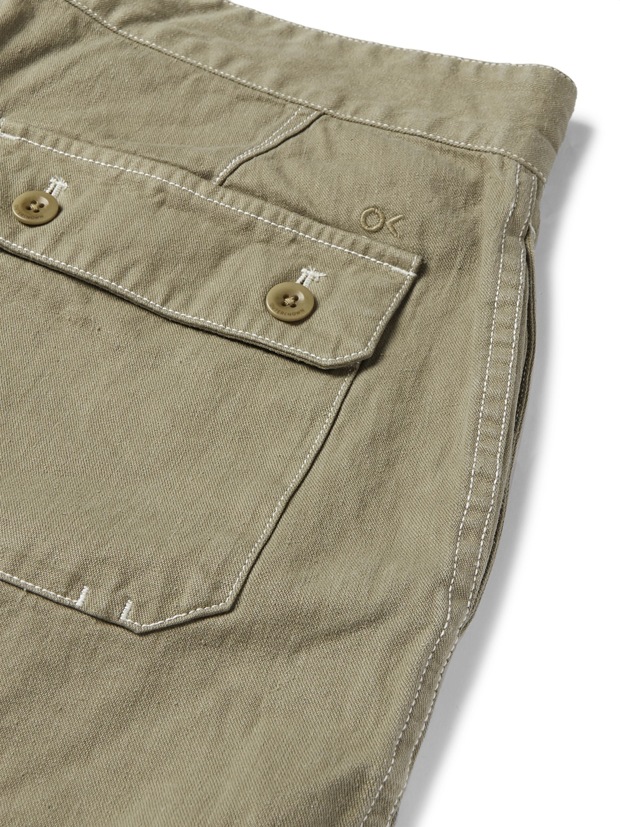 Outerknown Slim-Fit Appliquéd Hemp and Organic Cotton-Blend Drawstring Shorts
