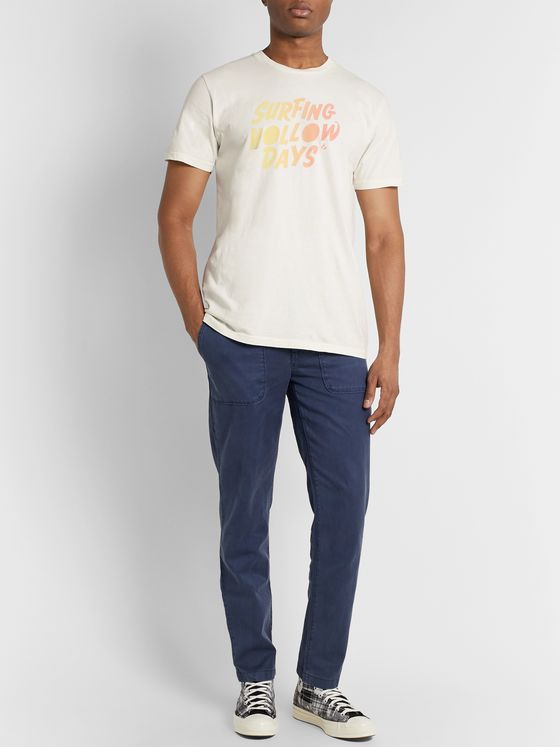 Outerknown Logo-Print Organic Cotton-Jersey T-Shirt