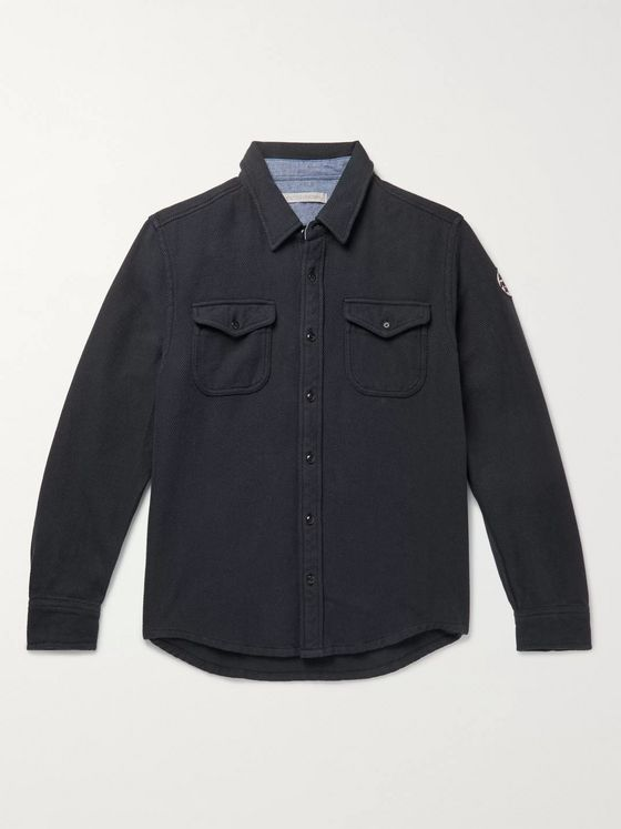 Outerknown Blanket Appliquéd Organic Cotton-Twill Overshirt